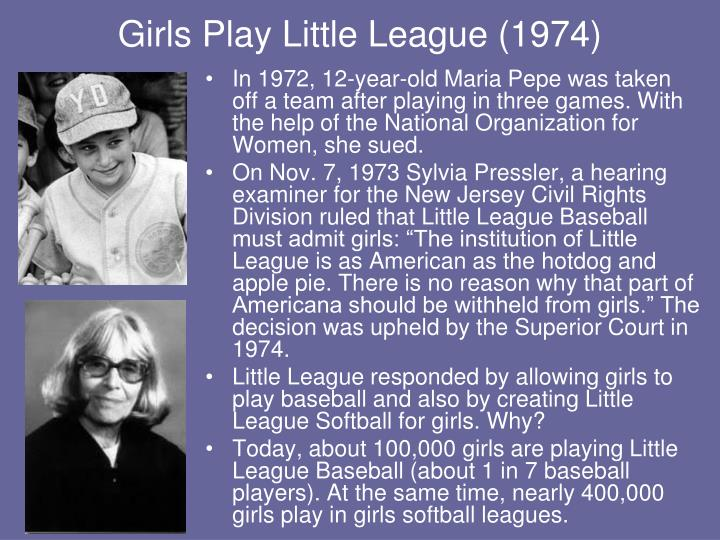 Girls Play Little League (1974)