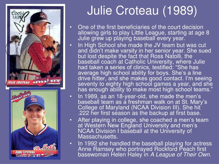 Julie Croteau (1989)