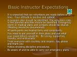 basic instructor expectations