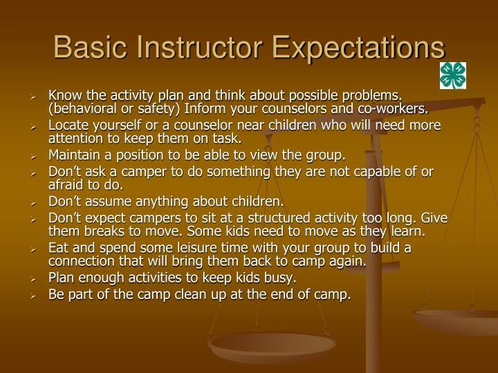 Basic instructor expectations3