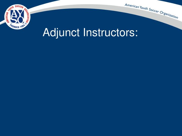 Adjunct instructors