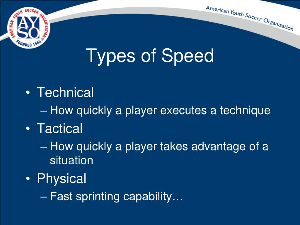 Types of Speed