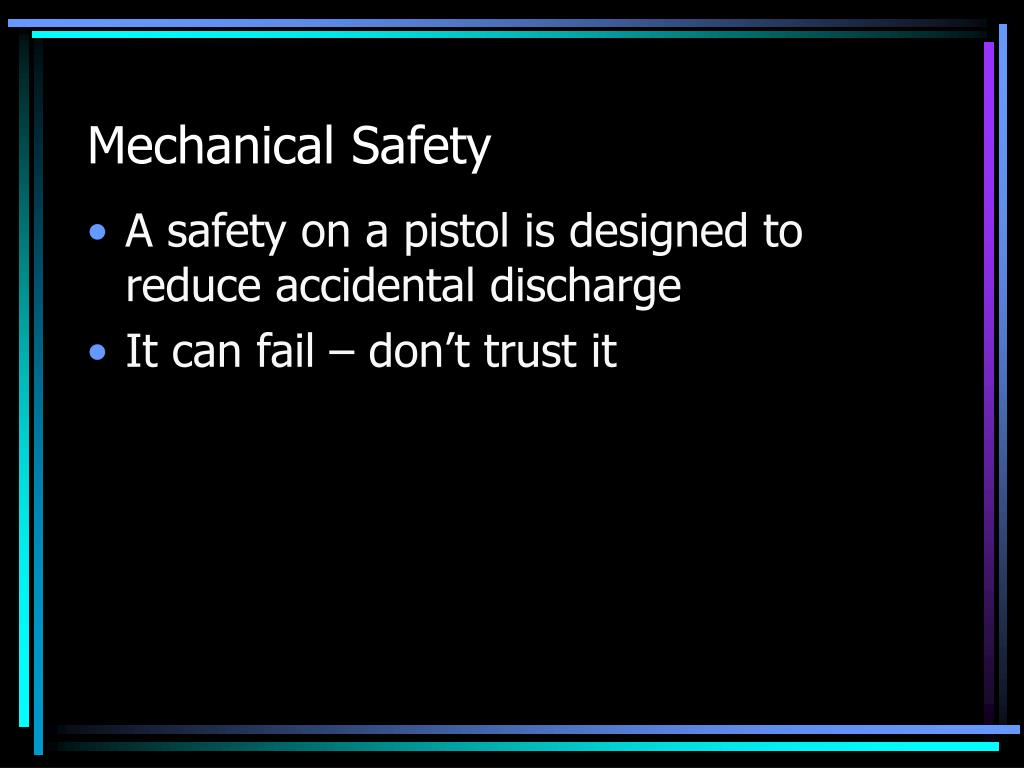 Mechanical Safety