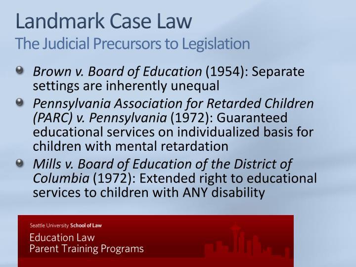 Landmark Case Law