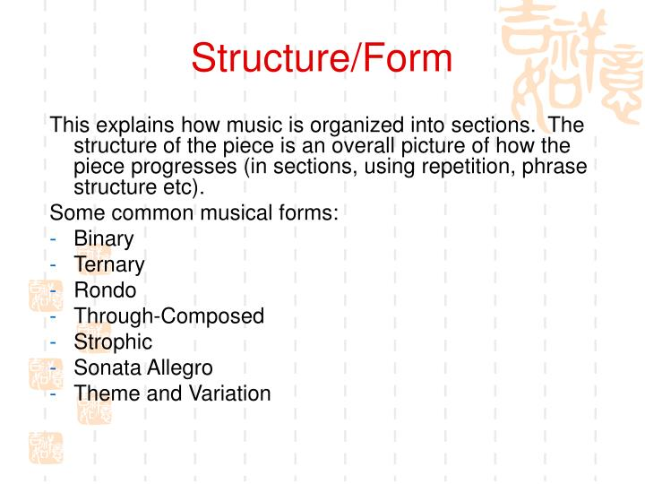 Structure/Form