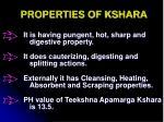 properties of kshara