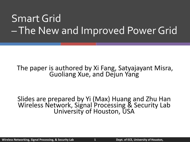 smart grid the new and improved power grid n.