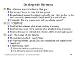 dealing with referees
