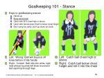 goalkeeping 101 stance