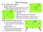 week 9 pointers