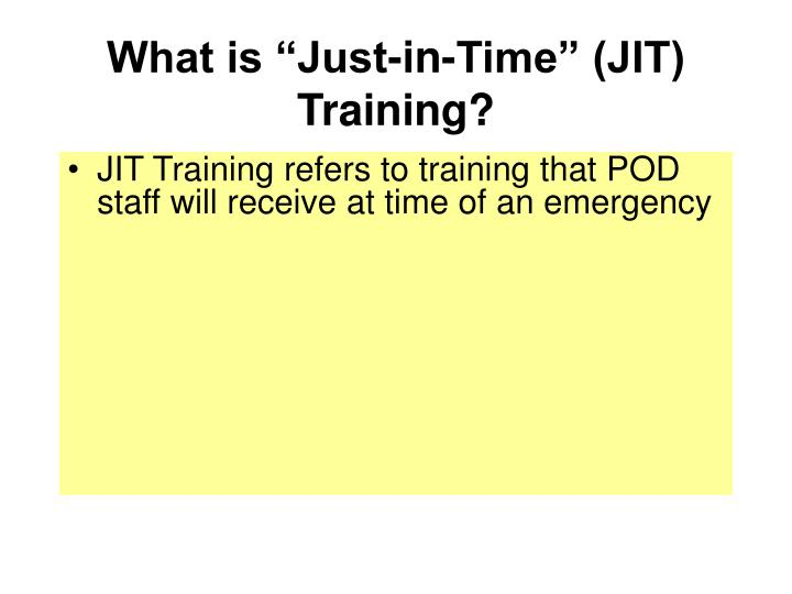 What is just in time jit training