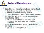 android meta issues