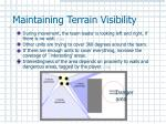 maintaining terrain visibility