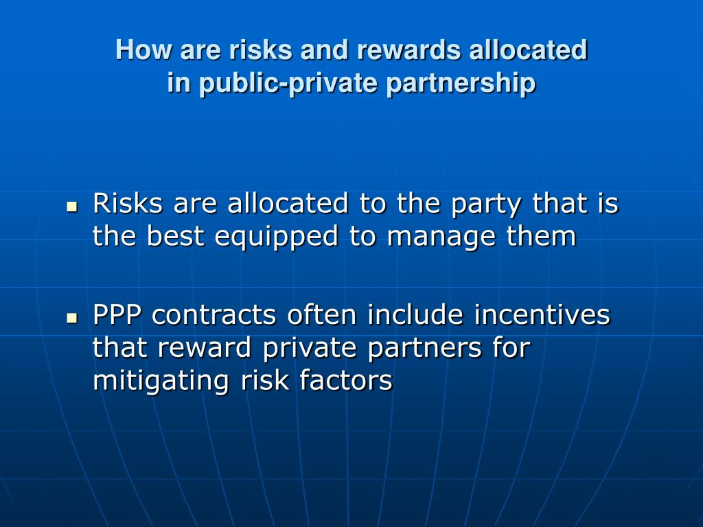 How are risks and rewards allocated