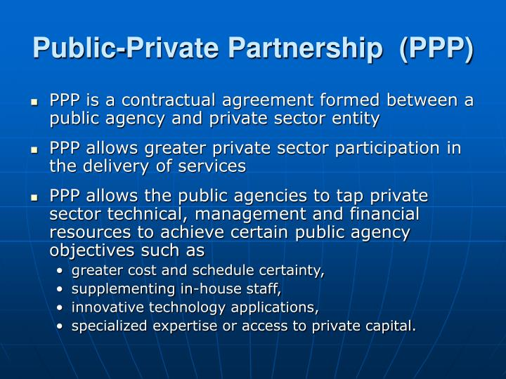 Public private partnership ppp