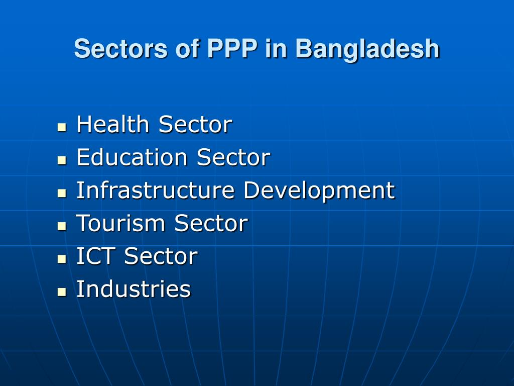 Sectors of PPP in Bangladesh