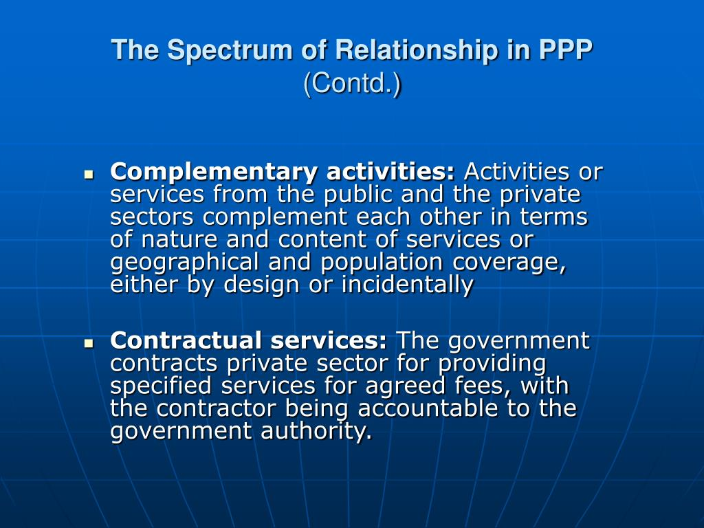The Spectrum of Relationship in PPP