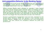 anti competitive behavior in the banking sector