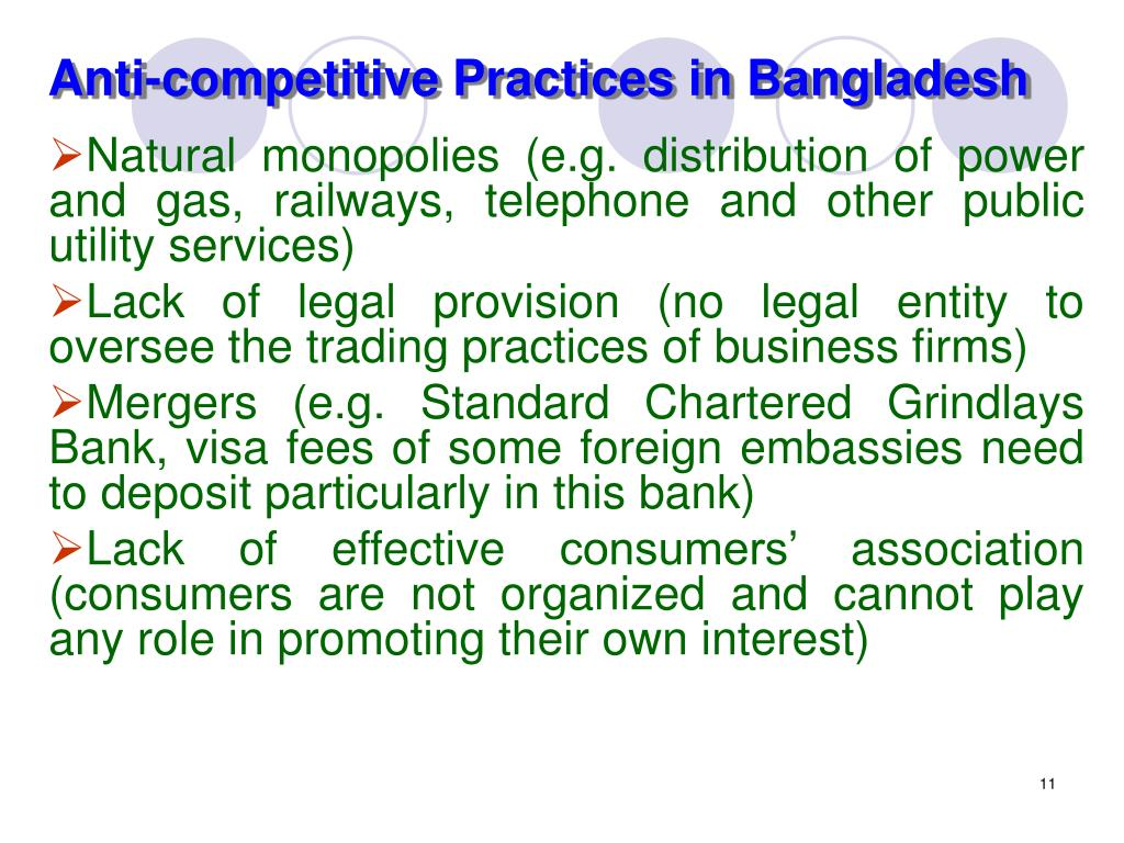 Anti-competitive Practices in Bangladesh