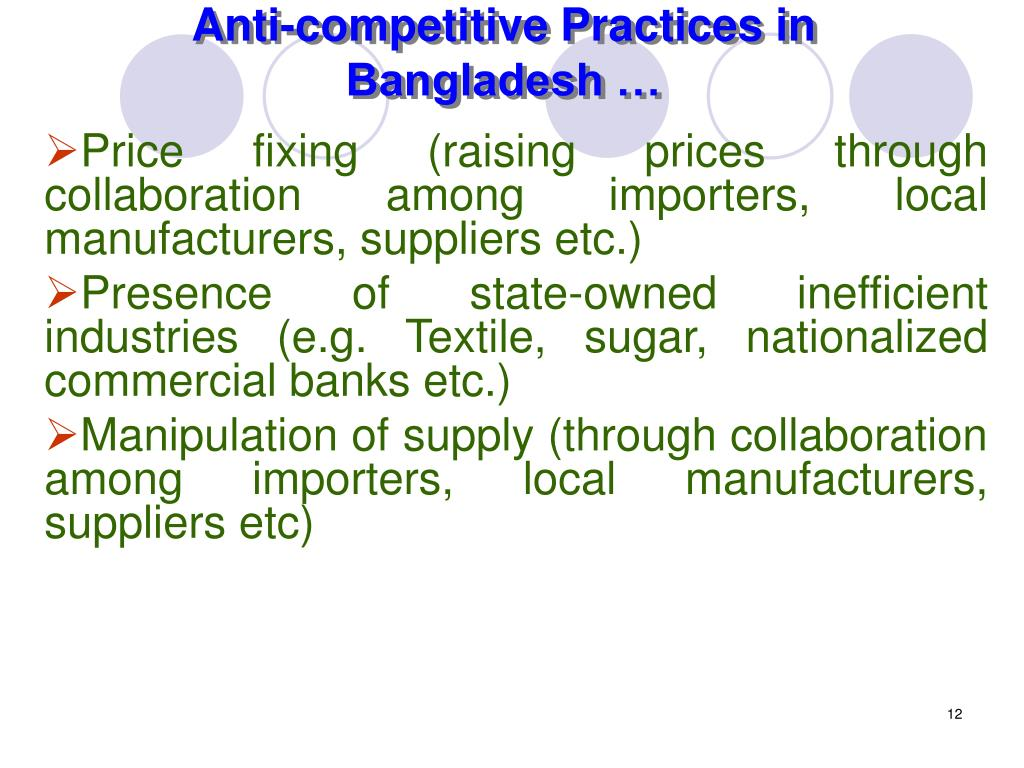 Anti-competitive Practices in