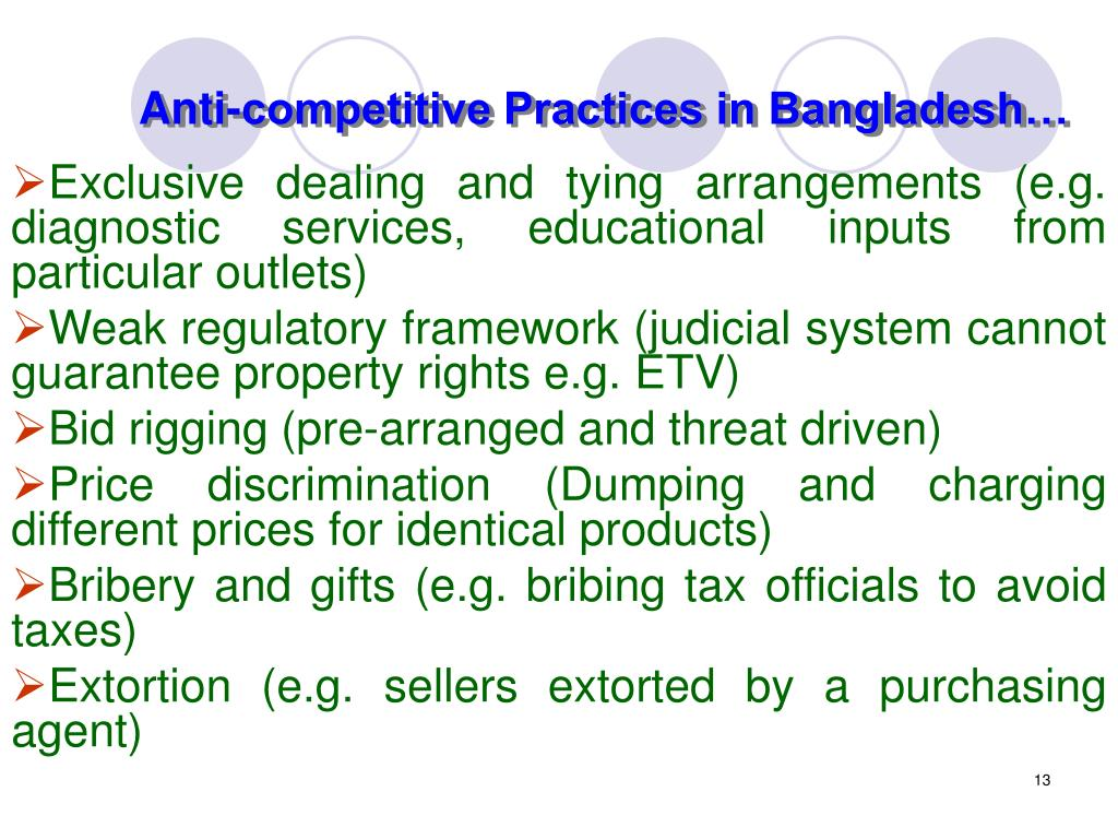 Anti-competitive Practices in Bangladesh…