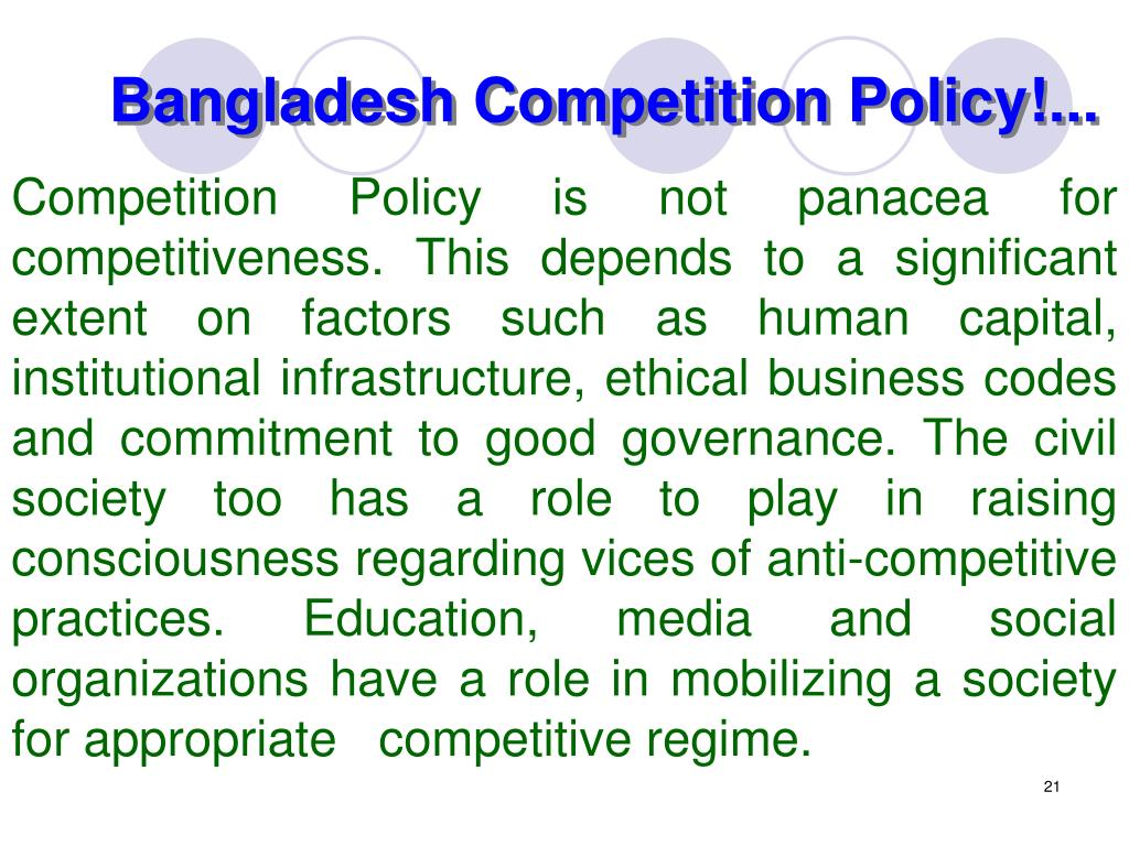Bangladesh Competition Policy!...