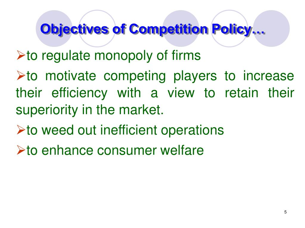 Objectives of Competition Policy…