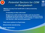 potential sectors for cdm in bangladesh