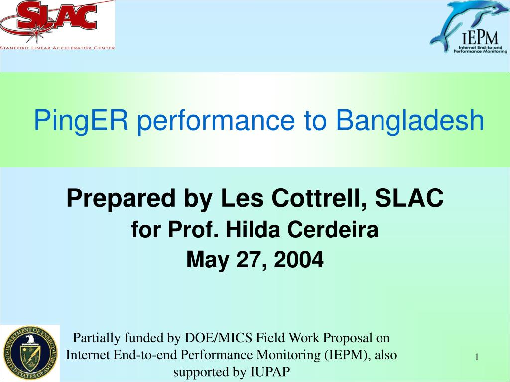 pinger performance to bangladesh l.