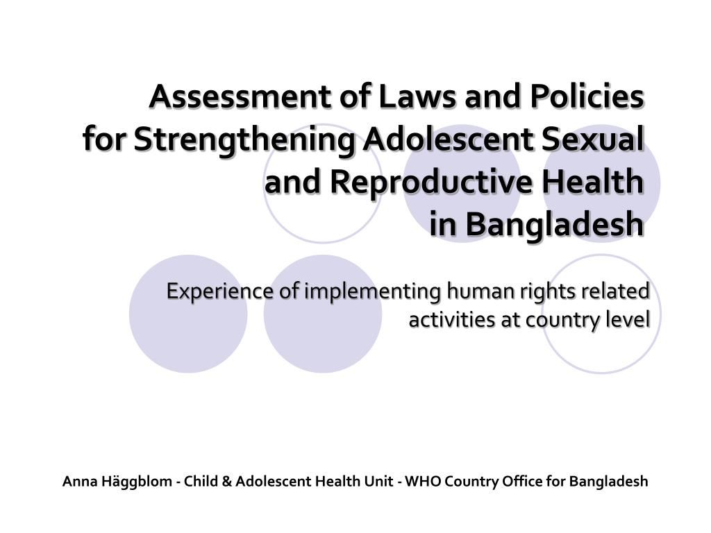 Assessment of Laws and Policies