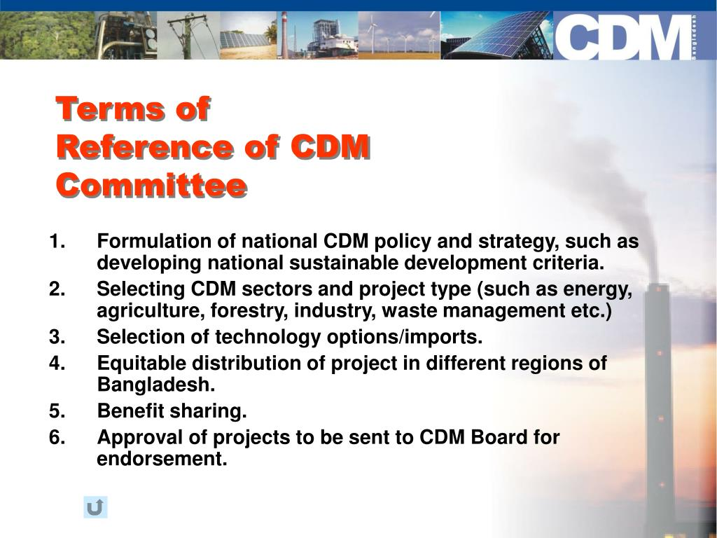 Terms of Reference of CDM Committee