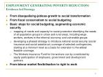 employment generating poverty reduction evidence led strategy