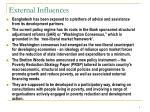 external influences