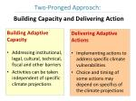 building capacity and delivering action