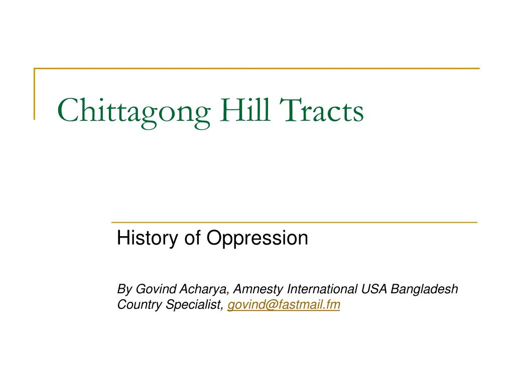 chittagong hill tracts l.