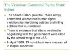 the violations committed by the shanti bahini