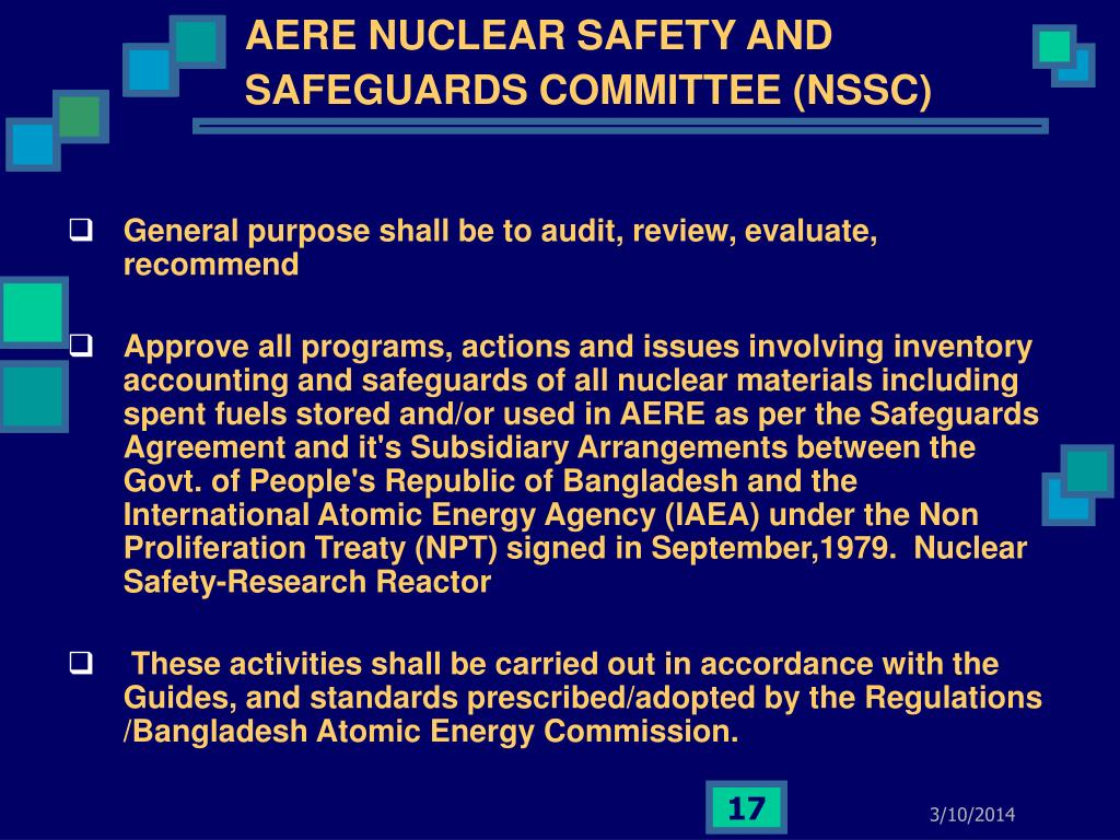AERE NUCLEAR SAFETY AND SAFEGUARDS COMMITTEE (NSSC)