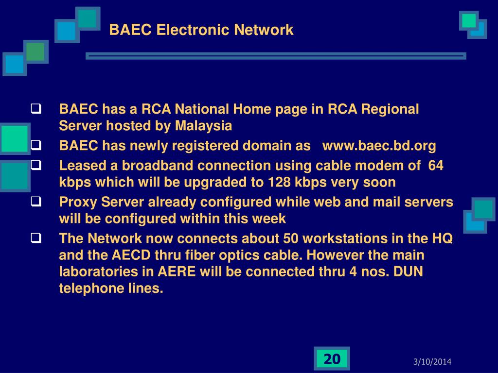 BAEC Electronic Network