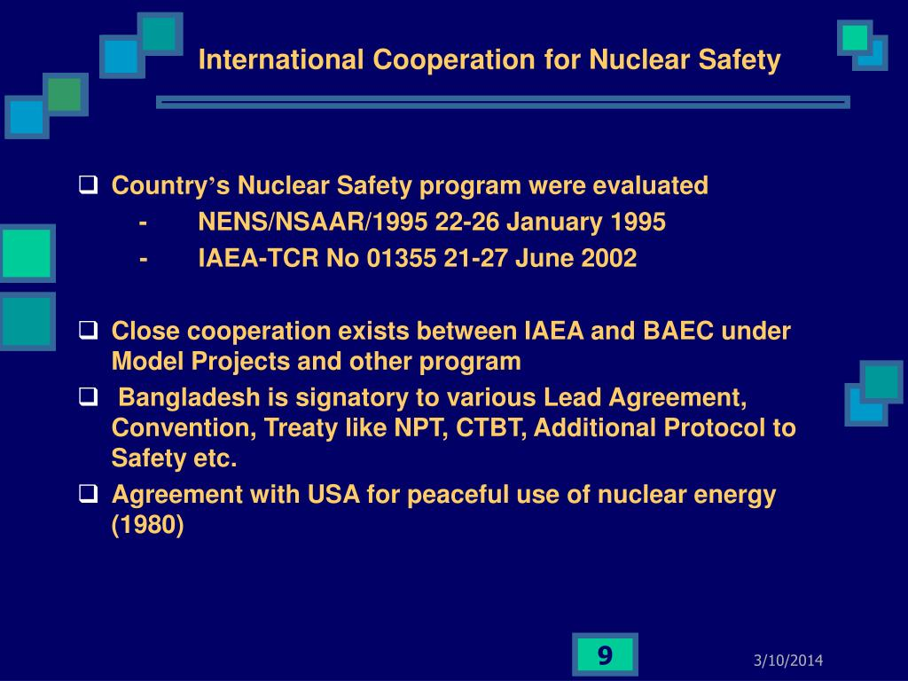 International Cooperation for Nuclear Safety
