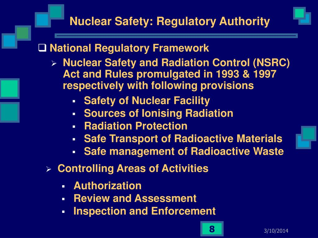 Nuclear Safety: Regulatory Authority