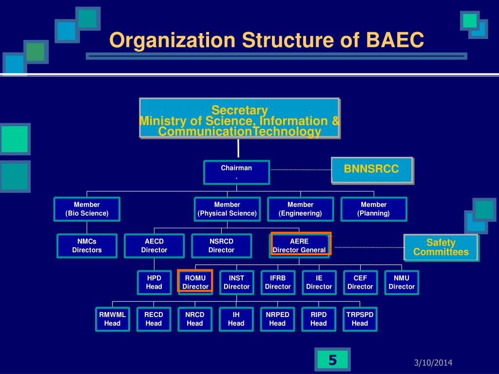 Organization Structure of BAEC