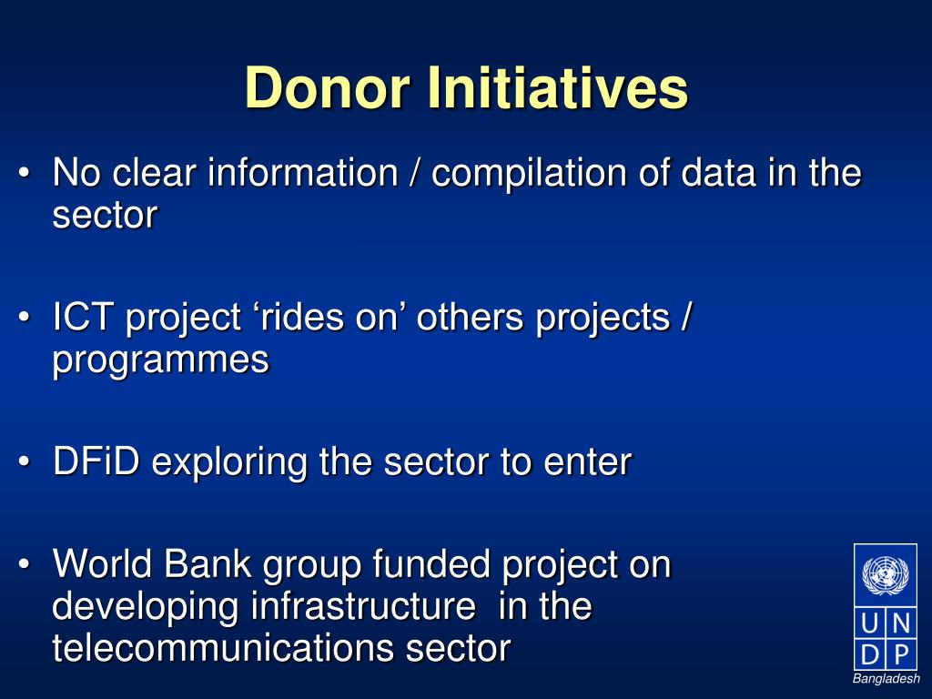 Donor Initiatives
