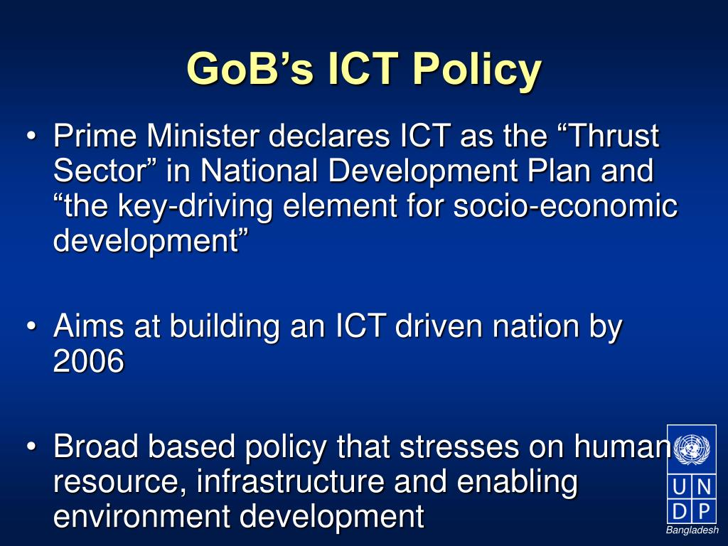 GoB's ICT Policy