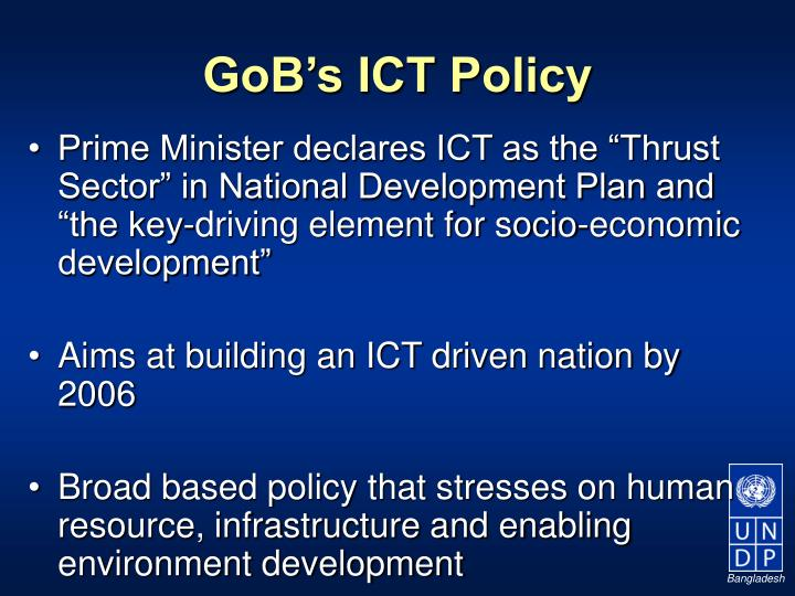 Gob s ict policy