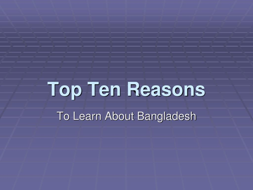 top ten reasons l.