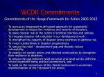 wcdr commitments