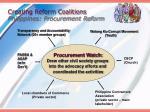 creating reform coalitions philippines procurement reform