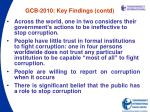 gcb 2010 key findings contd