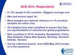 gcb 2010 respondents