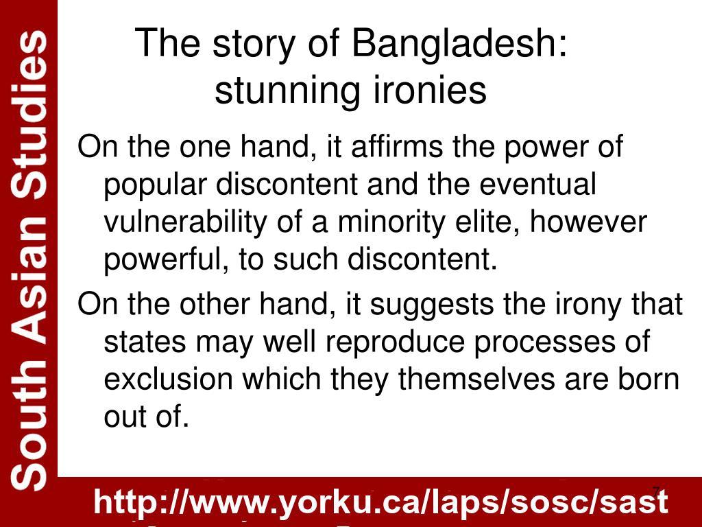 The story of Bangladesh: